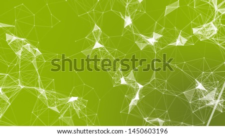 Network connecting and business teamwork connection. Technology in network connecting 3D rendering, line and dot connect in space colorful abstract background.