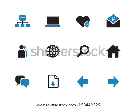 Network duotone icons on white background. See also vector version.