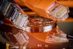 Network Ethernet Cable information transfer, server information storage with online files backup