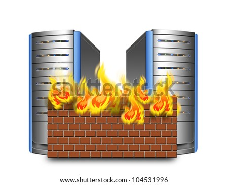 network firewall - stock photo
