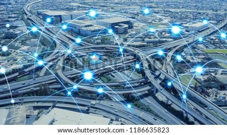 Network of transportation concept. #1186635823