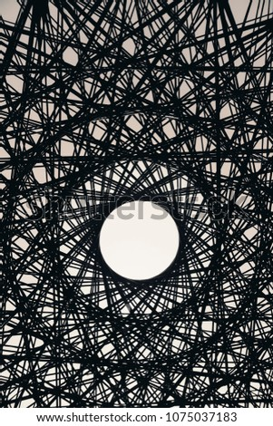 Network pattern with concentric circle. #1075037183