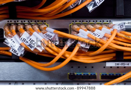 network router and cables