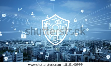 Network security concept. Data protection. Cyber security. Communication network. *Video version available in my portfolio.