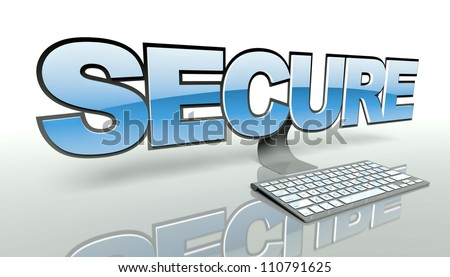 Network security on the internet concept, online connection