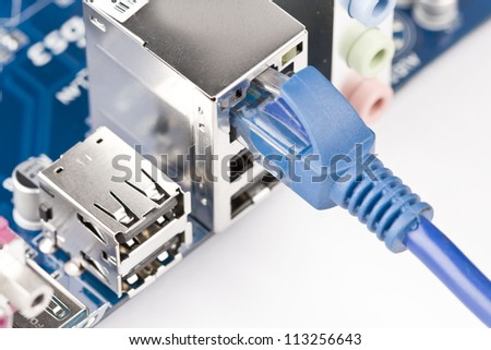 Network server network cable plug