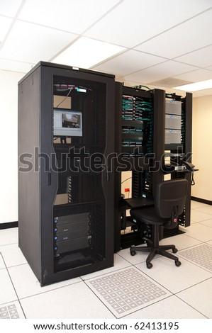 Network Server Station - stock photo