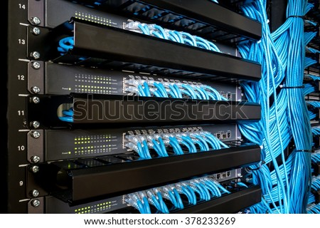Network switch and ethernet cables #378233269
