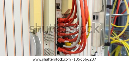 Network switch and network cable in a data center #1356566237