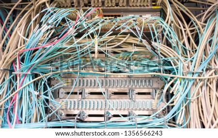 Network switch and network cable in a data center #1356566243