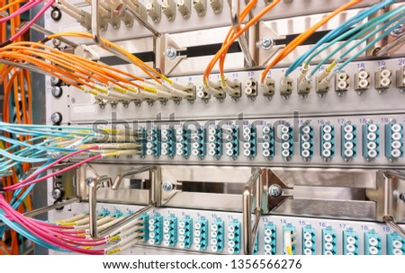 Network switch and network cable in a data center #1356566276