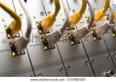 Network switch, cables