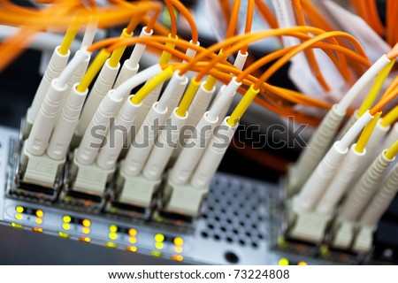Network Switch. Closeup view with shallow DOF.