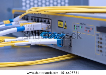 Network switch with network ethernet and optical cables