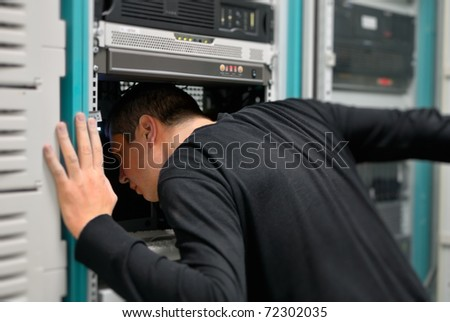 network technician is working now