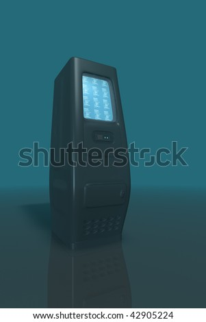 Network technology - servers and hosting - stock photo