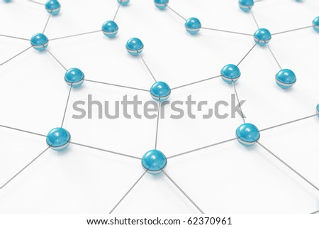 Network with blue balls