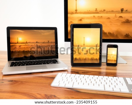 networked computers and mobile devices #235409155