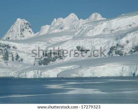 Neumaier Channel, Antarctica - stock photo