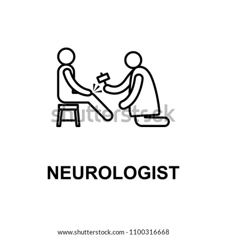 neurologist icon. Element of treatment with name for mobile concept and web apps. Thin line neurologist icon can be used for web and mobile. Premium icon on white background