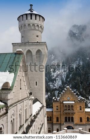 Neuschwanstein Castle - Tower & Main Visitor's Entrance
