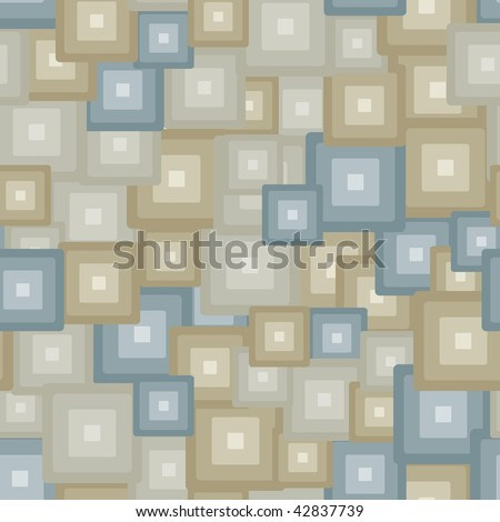 Neutral 3d tiles - seamless pattern