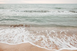 neutral sea ocean background with waves. Photos with a neutral color palette