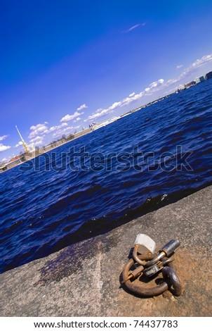Neva river view. Saint-Petersburg, Russia