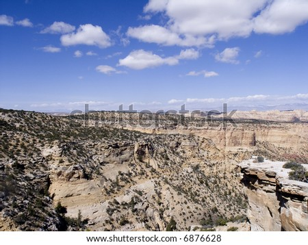 nevada  mountains and desert landscape - stock photo