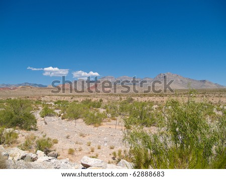 Nevada's Red rock Canyon or Red Rock Canyon National Conservation Area, on the outskirts of Las Vegas, USA.