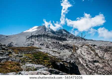 Shutterstock Nevado de ruiz is located near to manizales and is an impresionante nature reserve of the park of snowed