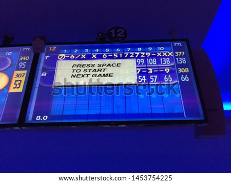 Never ending bowling game in Bangkok #1453754225