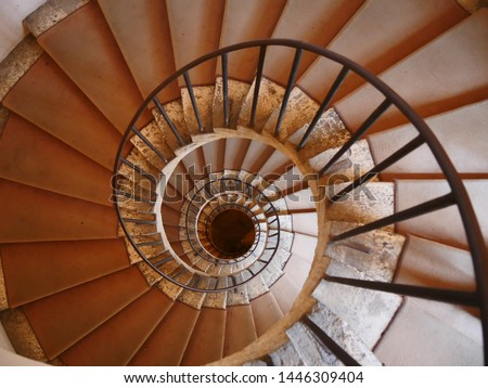 Never Ending Spiral Staircase In Italy #1446309404