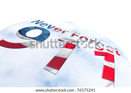 Never Forget 911 abstract - stock photo