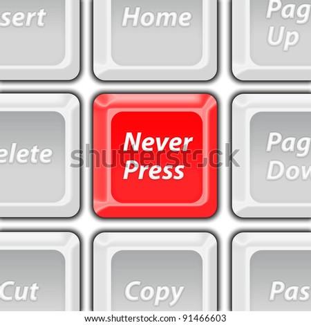 never press key