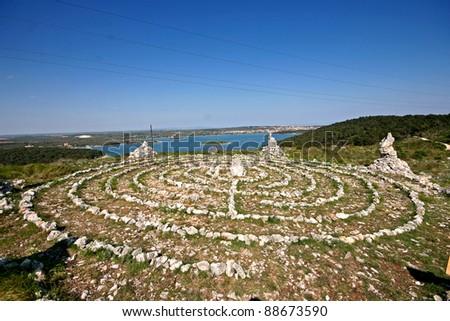 New age healing labirinth