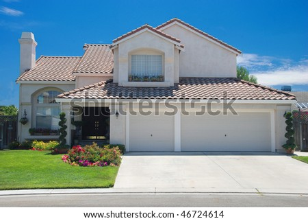 New American dream home - stock photo