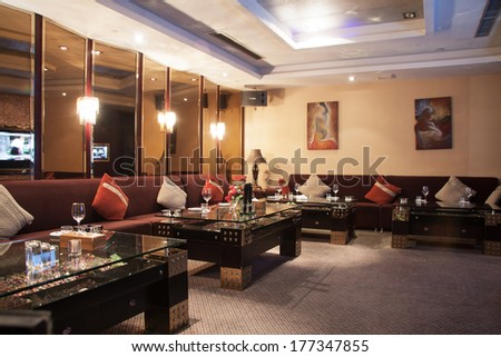 new and clean luxury night club in luxury hotel