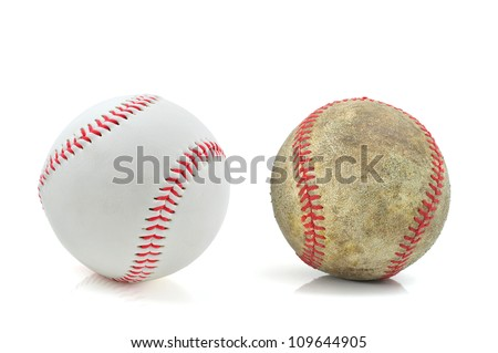 new and old baseballs