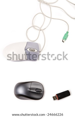 New and old computer mouse