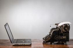 New and old typing machines