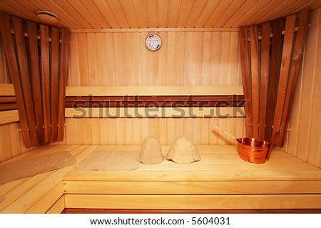 New and wooden sauna in modern hotel