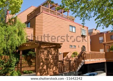 New apartment building in California - stock photo