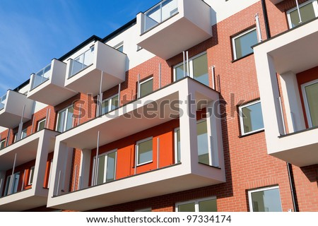 New apartments for sale over blue sky