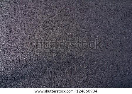 new asphalt laid on the road