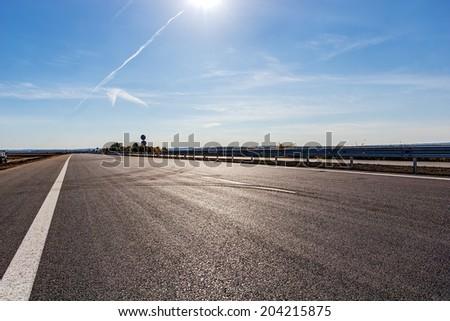 New asphalt road and sky