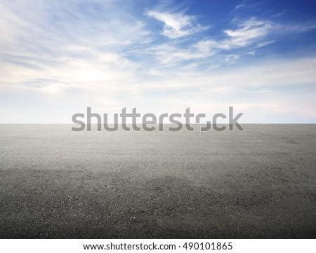 new asphalt road and sky #490101865