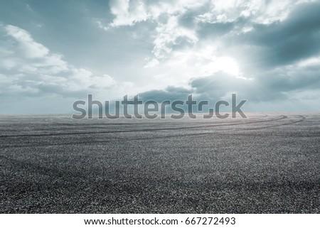 new asphalt road and sky #667272493