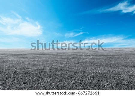 new asphalt road and sky #667272661