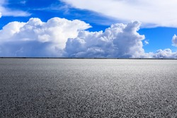 New asphalt road and sky cloud natural scenery.